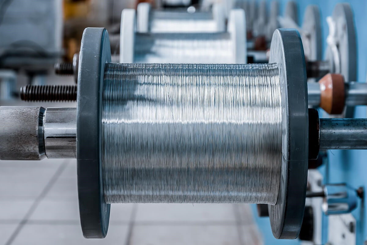 Silver Plated Wire Spool